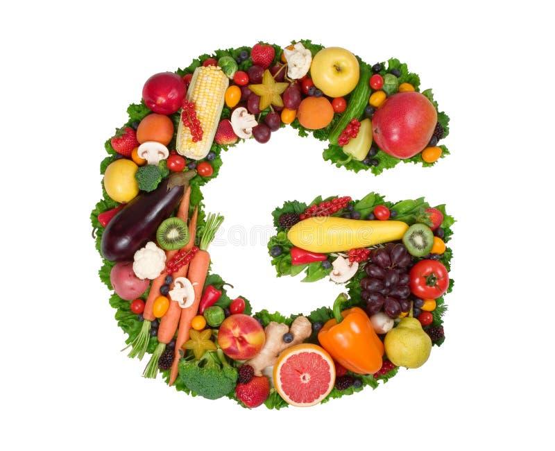 Alfabeto di salute - G immagine stock