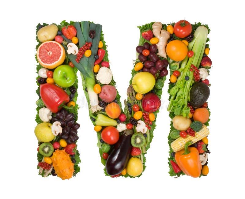 Alfabeto di salute - m. immagini stock libere da diritti