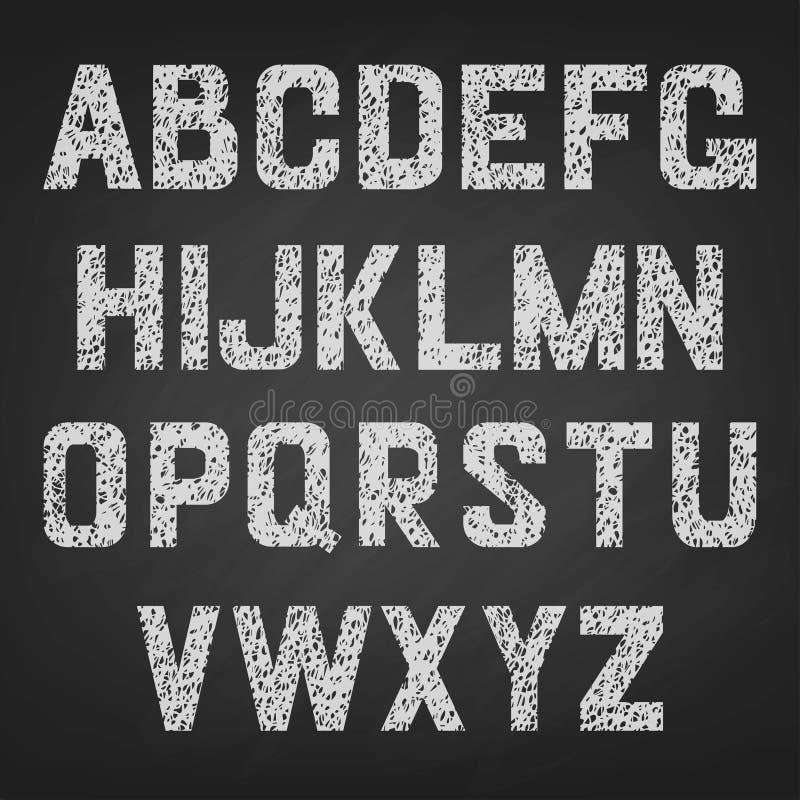 Alfabeto di vettore del segnato di royalty illustrazione gratis