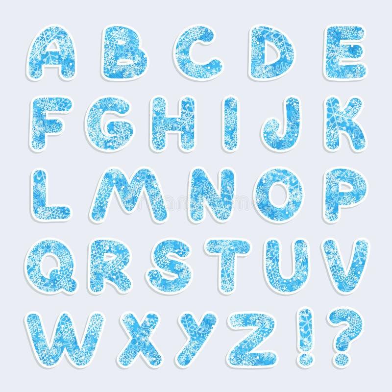Alfabeto di vettore di Natale royalty illustrazione gratis