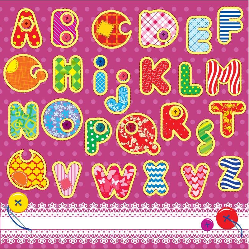Download Alfabeto Do ABC Dos Retalhos Ilustração do Vetor - Ilustração de pattern, handmade: 26508305