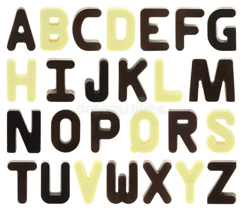 Alfabeto do chocolate imagem de stock