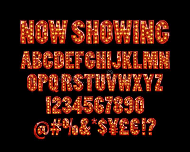 Alfabeto do cinema ilustração do vetor