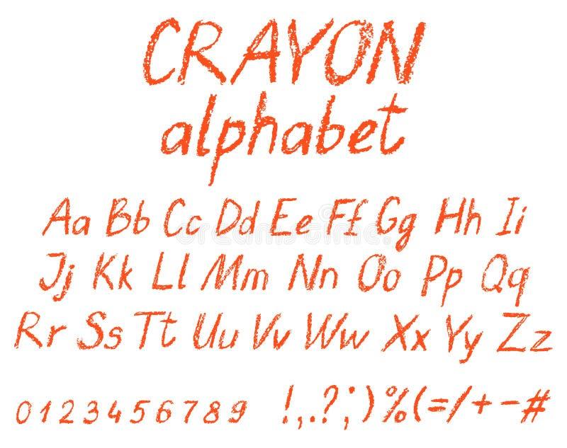Alfabeto do desenho do ` s da criança do pastel ilustração do vetor