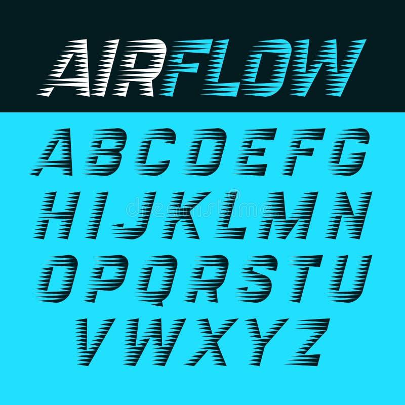 Alfabeto do fluxo de ar ilustração royalty free
