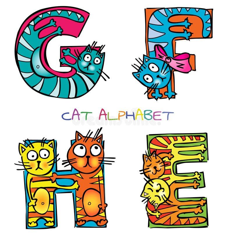 Alfabeto do gato ilustração do vetor