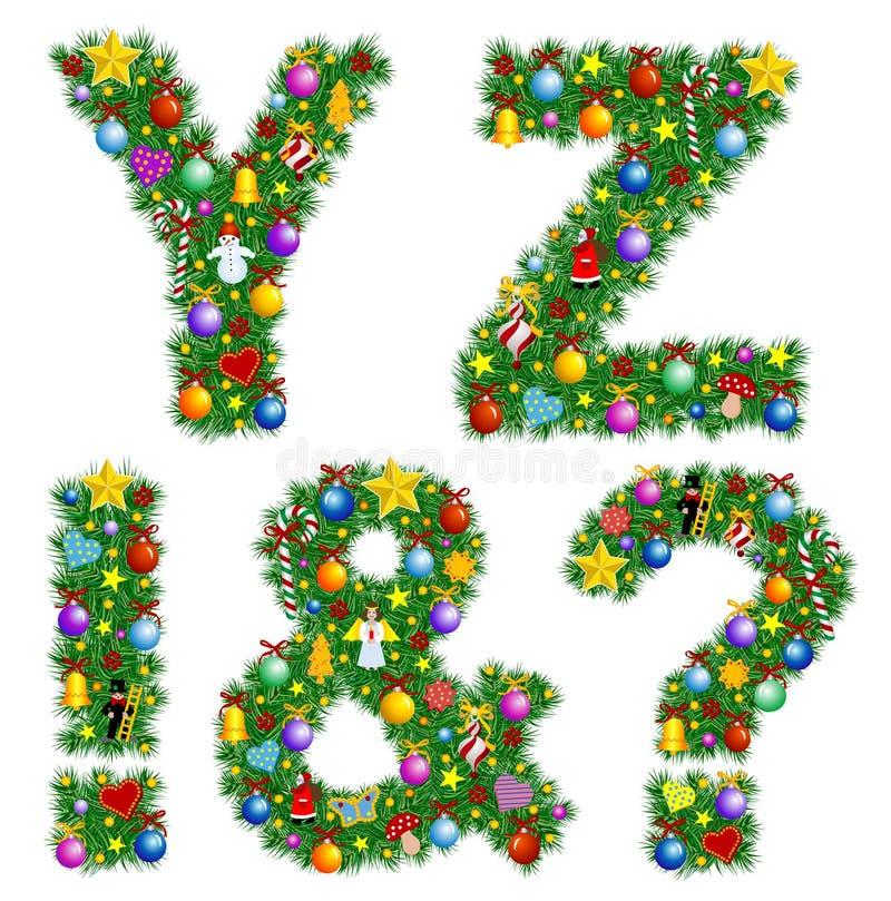 Alfabeto do Natal ilustração royalty free