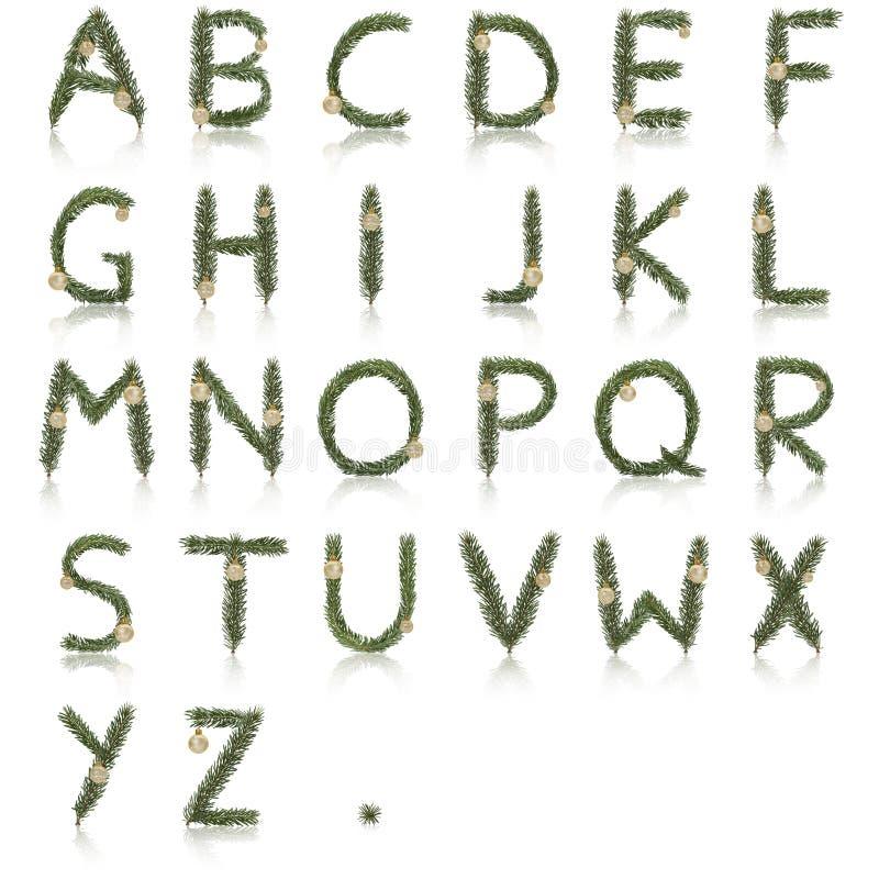 Alfabeto do Natal imagens de stock royalty free