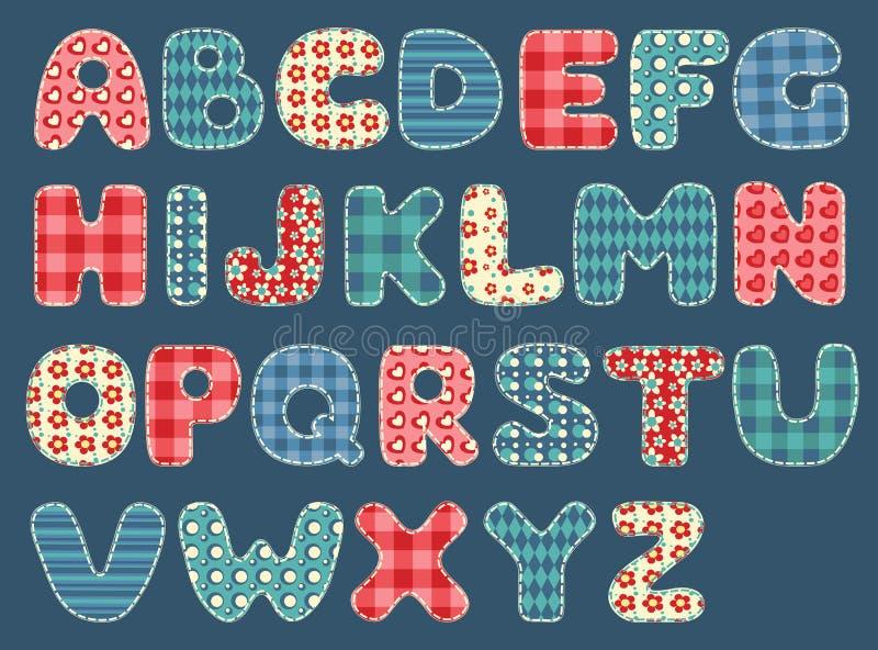 Alfabeto do Quilt. ilustração royalty free
