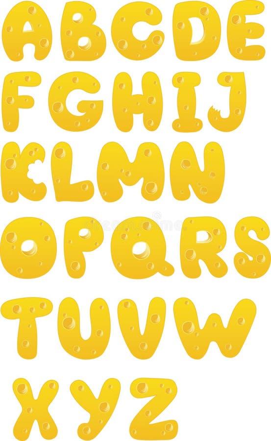 Alfabeto do vetor ilustração stock