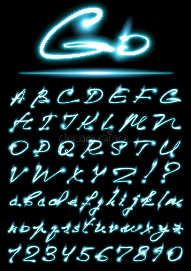 Alfabeto do vetor ilustração royalty free