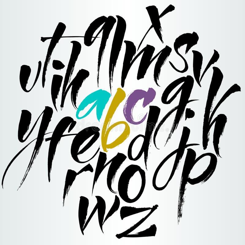 Alfabeto do vetor Letras desenhadas mão ilustração stock