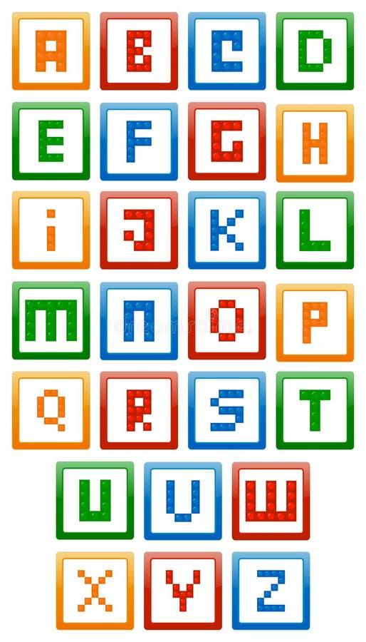 Alfabeto dos blocos de apartamentos ilustração royalty free