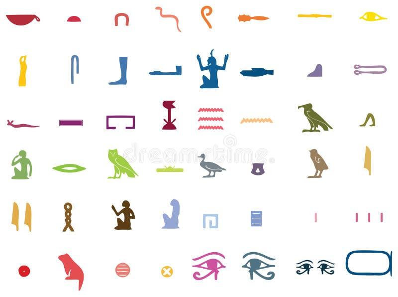 Alfabeto egipcio stock de ilustración