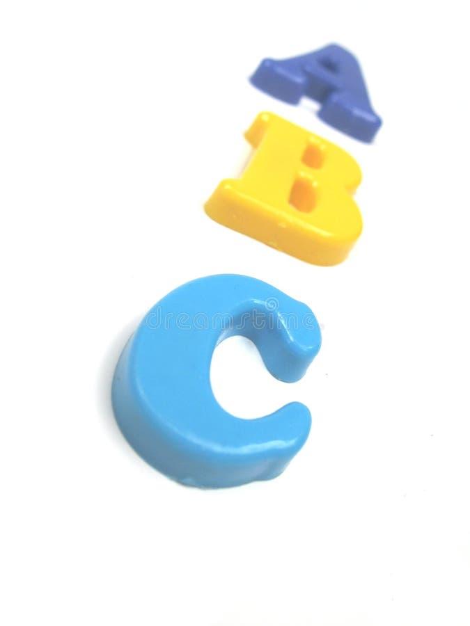 Alfabeto em 3d fotografia de stock royalty free