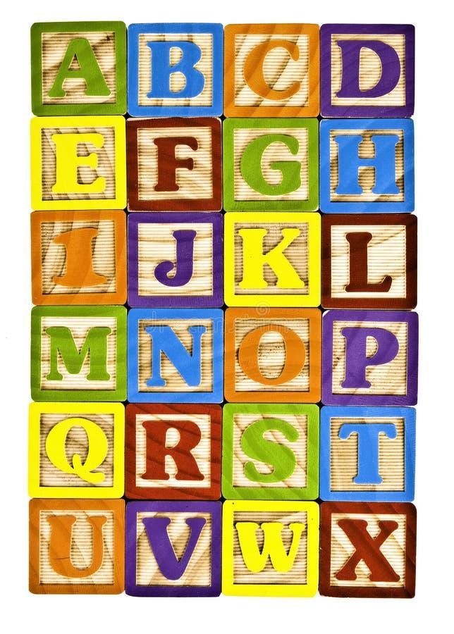 Alfabeto em letras de bloco fotos de stock royalty free