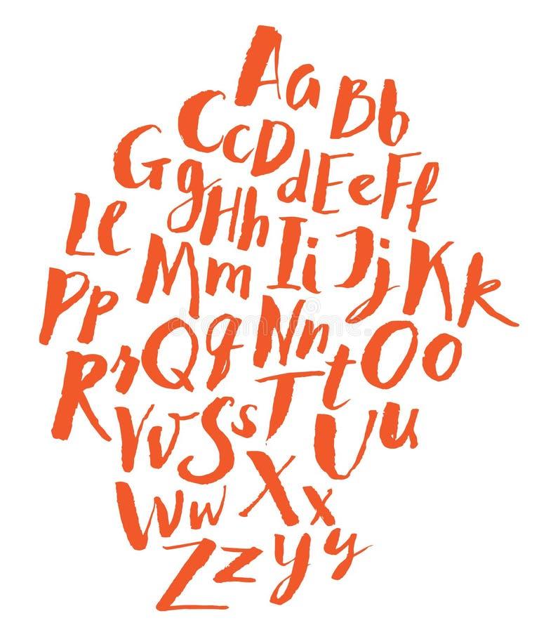Alfabeto escrito mão ilustração do vetor