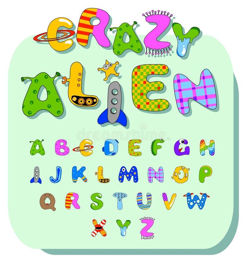 Alfabeto extranjero stock de ilustración