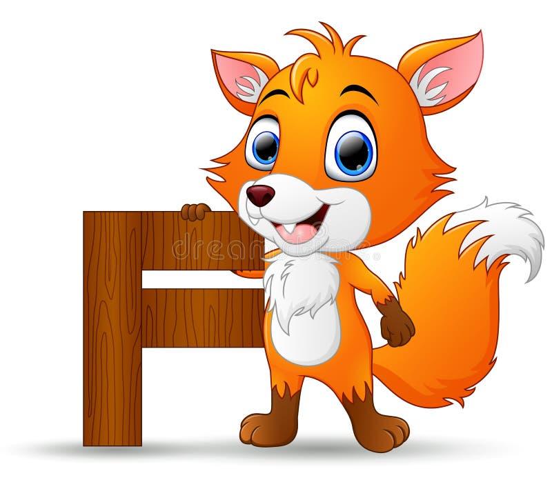 Alfabeto F com desenhos animados do Fox ilustração royalty free