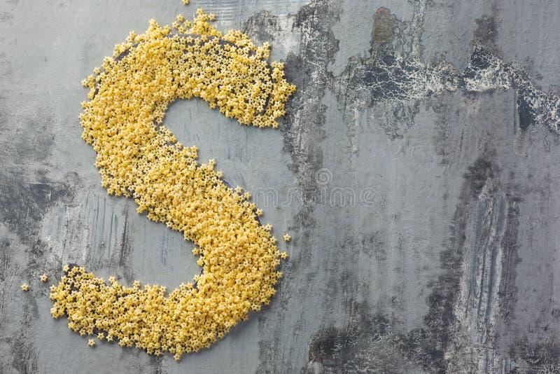 Alfabeto feito da massa Letra S foto de stock royalty free