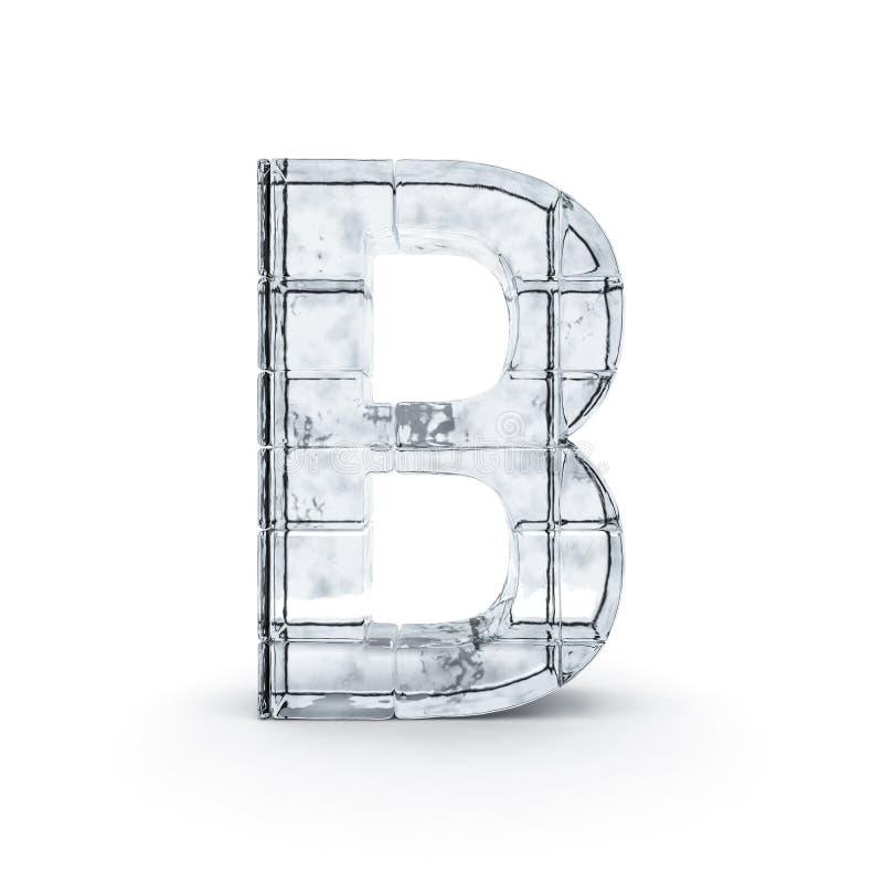 Alfabeto feito fora do gelo 3d ilustração stock