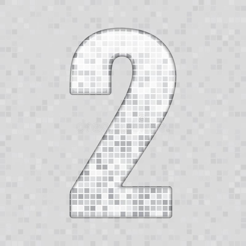 Alfabeto A figura cinzenta da telha, letra e canta ilustração royalty free