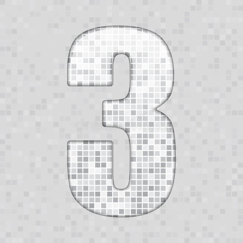 Alfabeto A figura cinzenta da telha, letra e canta ilustração do vetor