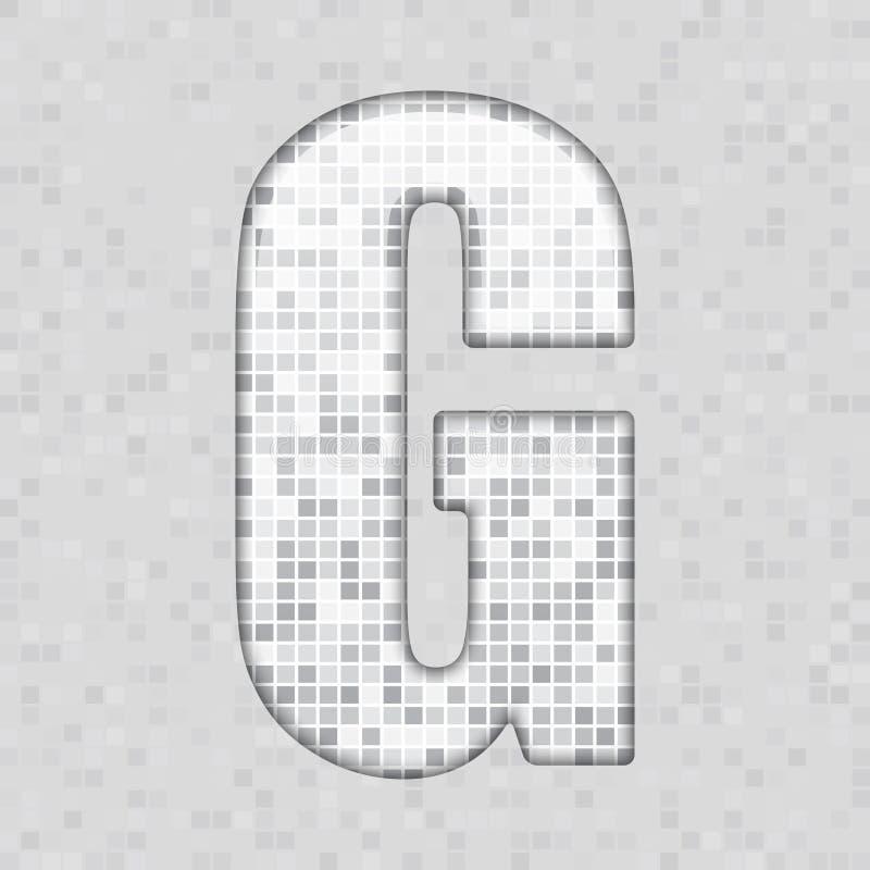 Alfabeto A figura cinzenta da telha, letra e canta ilustração stock