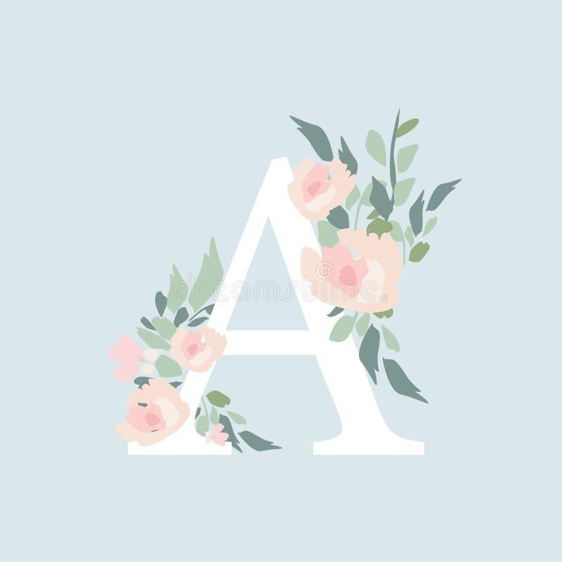 Alfabeto floral -  de la letra Ð con la composición del ramo de las flores  de Ð libre illustration