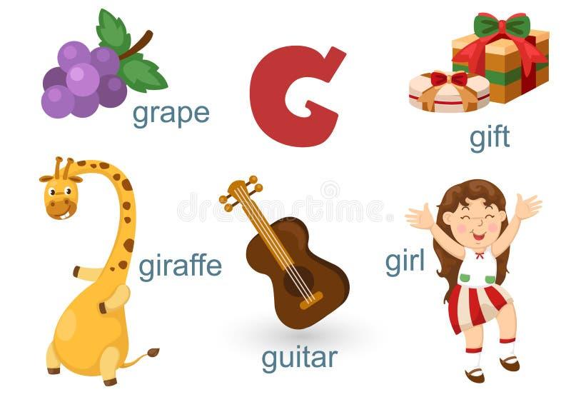 Download Alfabeto G ilustración del vector. Ilustración de cubo - 42432528