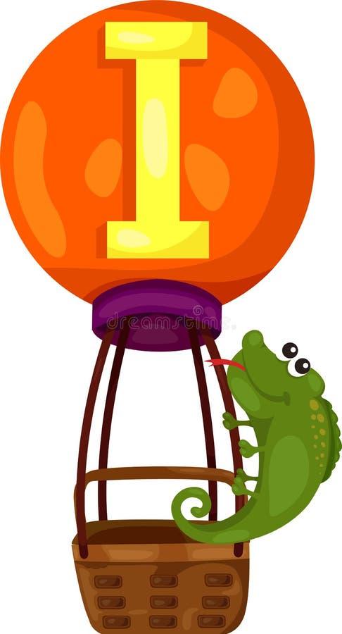 Alfabeto I para la iguana stock de ilustración