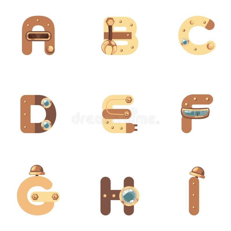 Download Alfabeto A-I Robot ilustración del vector. Ilustración de cabritos - 42433921