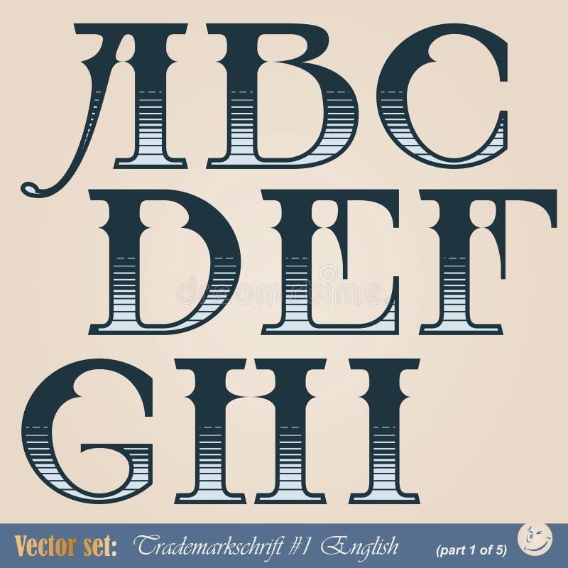 Alfabeto inglés stock de ilustración