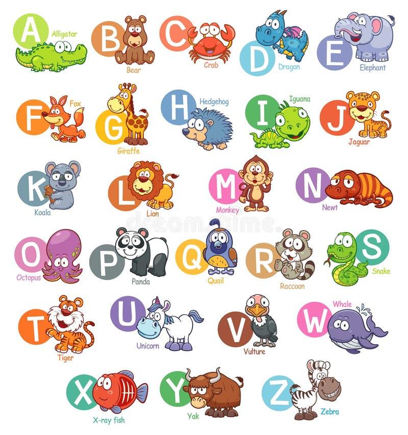 Alfabeto inglés ilustración del vector