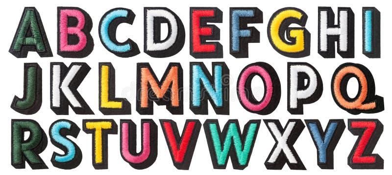 alfabeto inglés de cosido con el hilo fotografía de archivo libre de regalías