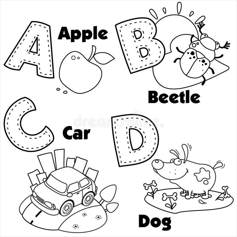Alfabeto inglés y las letras A, B, C y D libre illustration