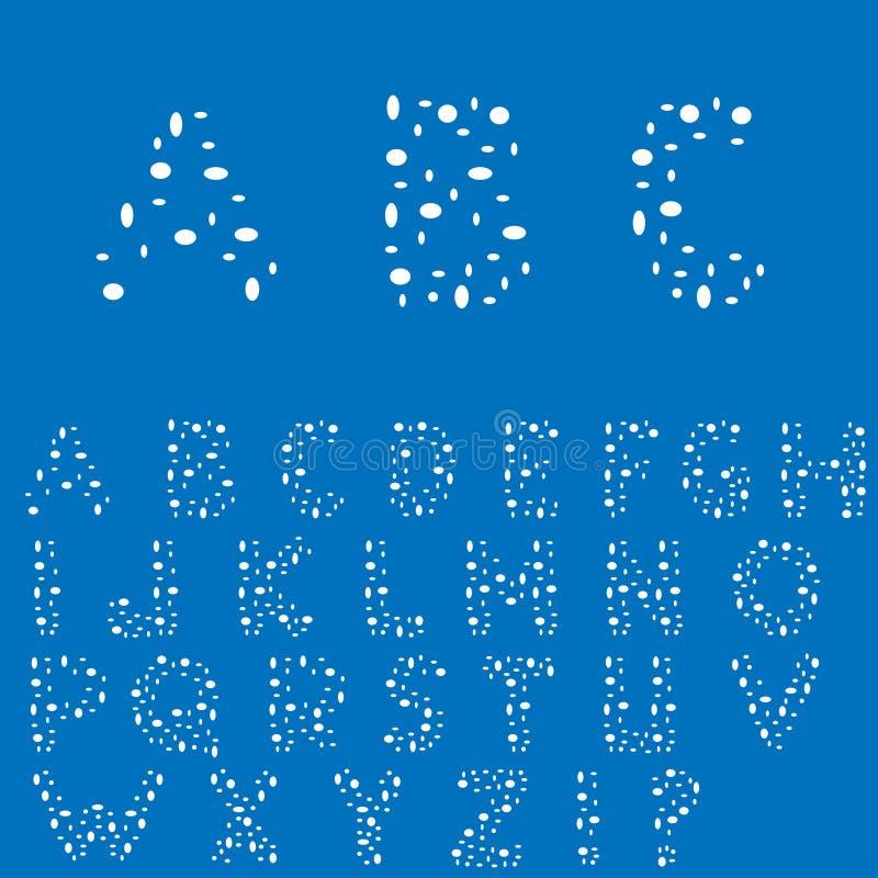 alfabeto inglês creativo ilustração stock