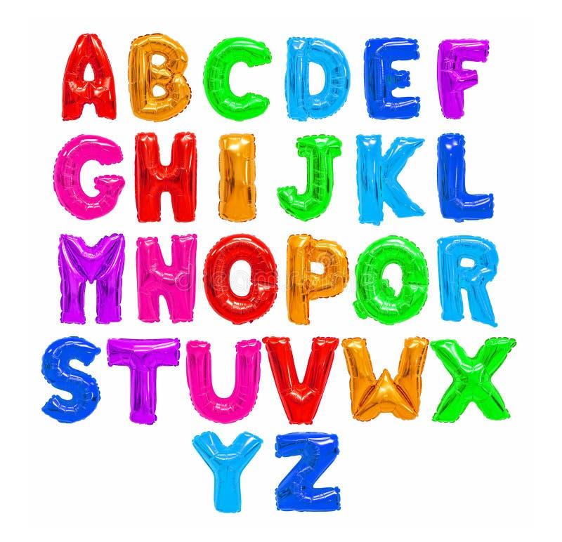 Alfabeto inglês da cor fotos de stock