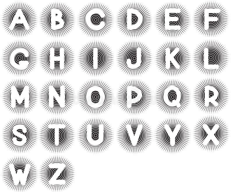 Alfabeto inglese. illustrazione di stock