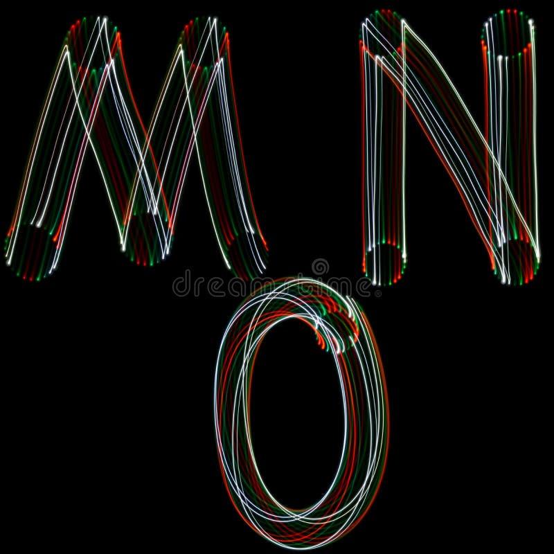 Alfabeto inglese. fotografie stock