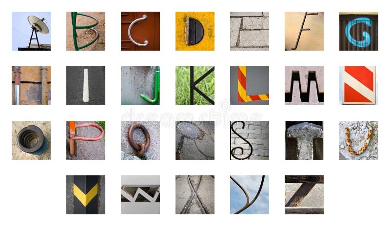 Alfabeto inglese astratto raro fotografie stock libere da diritti