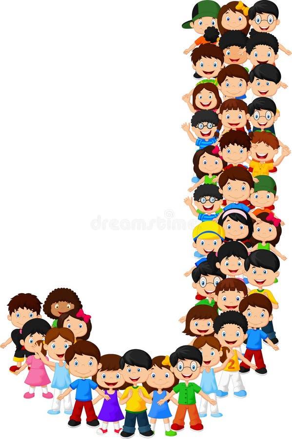Alfabeto J do formulário das crianças ilustração royalty free