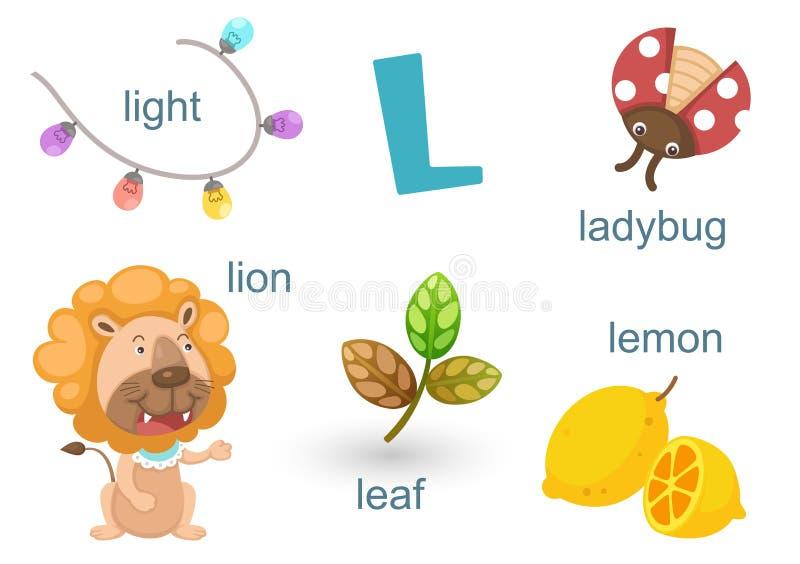 Download Alfabeto L ilustración del vector. Ilustración de colorido - 42432628