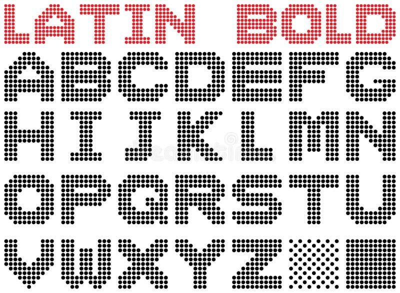 Alfabeto Latin. Bold(realce). ilustração stock
