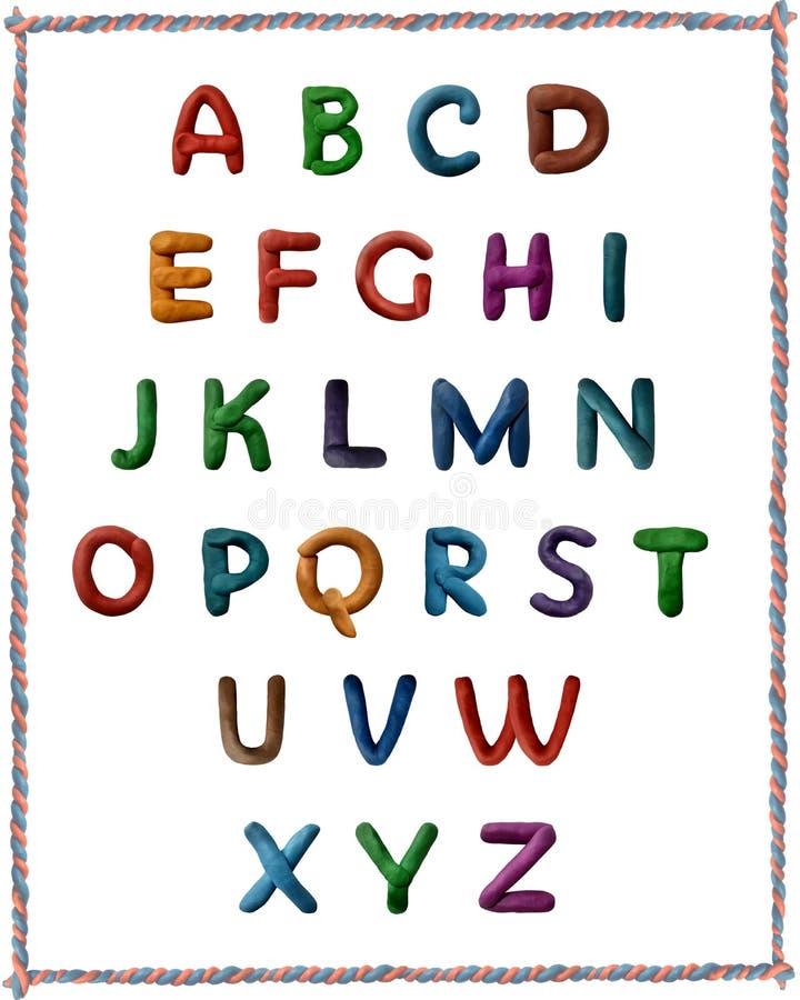 Alfabeto latino do plasticine imagens de stock royalty free