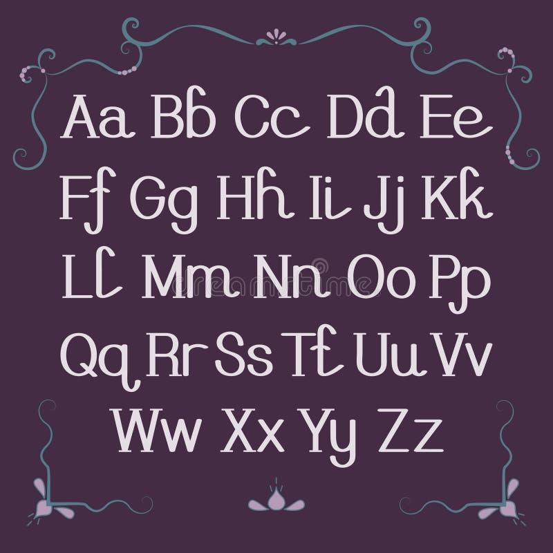Alfabeto, letras stock de ilustración