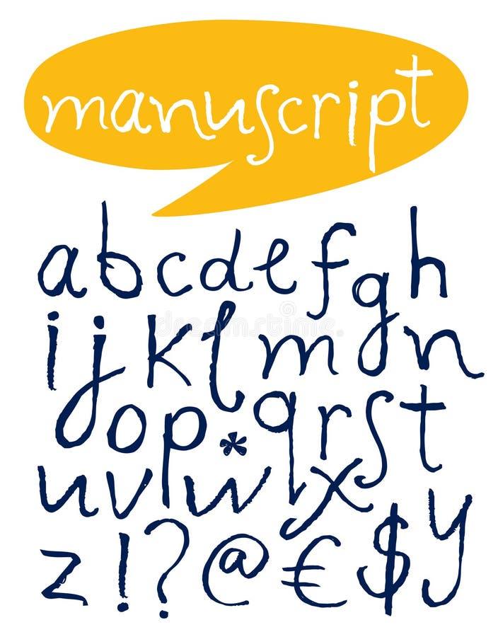 Alfabeto. Letras Desenhadas Mão. Foto de Stock Royalty Free