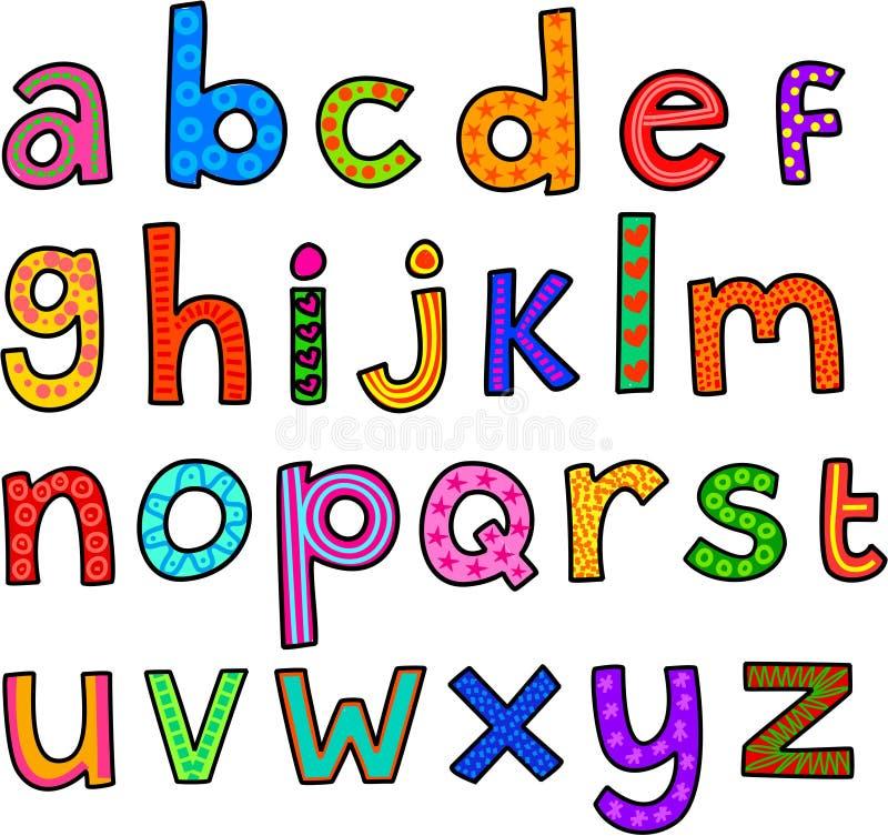 Alfabeto Lowercase lunático