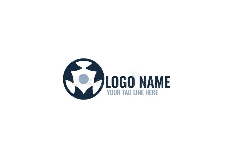 Alfabeto m. Logo Design illustrazione di stock
