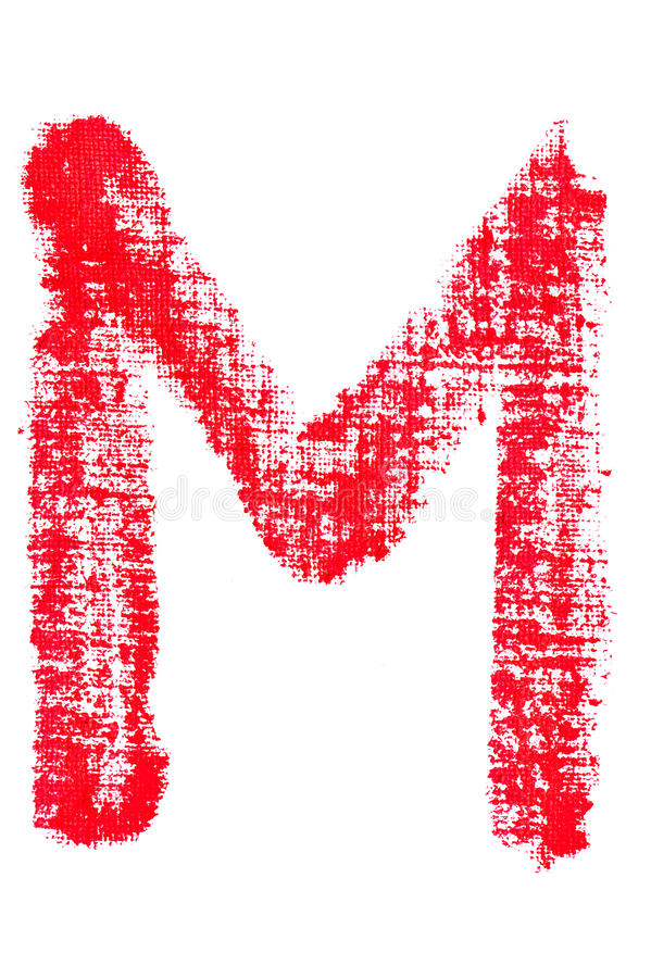 Alfabeto maiuscolo del rossetto - lettera maiuscola m. illustrazione vettoriale